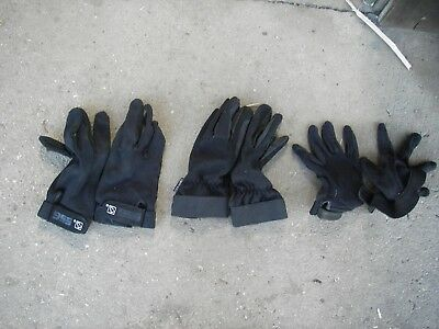 Horse Riding gloves 3 pairs