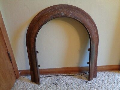 Victorian Cast Iron Fireplace Arched Summer Door Frame Old Antique Vintage