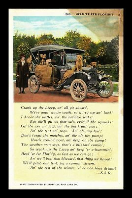 Dr Jim Stamps Us Classic Car Family Heading To Florida Topical Postcard