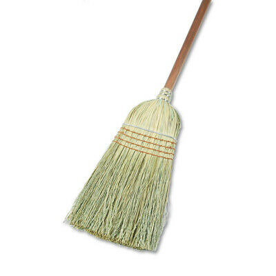 "Boardwalk Warehouse Broom, Corn Fiber Bristles, 42"" Wood Handle, Natural, 12/car"