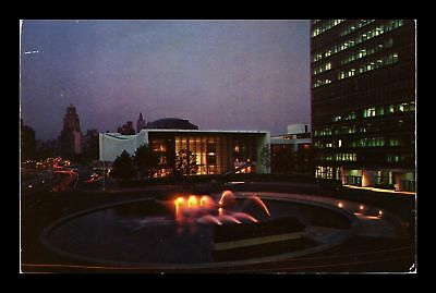 Dr Jim Stamps Us Night View United Nations Headquarters Chrome View Postcard