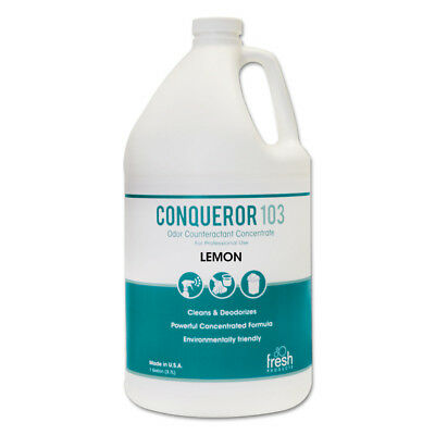 Fresh Products Conqueror 103 Odor Counteractant Concentrate, Lemon, 1 Gal Bottle