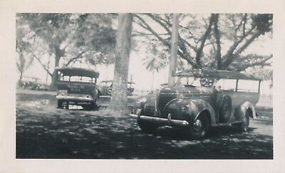 WWII 1944 NASP sailor visits Hilo Hawaii, photo Hilo Sampan buses