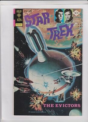 """STAR TREK #41 Fine+, Gold Key 1976, painted cover, """"The Evictors"""", solid copy"""