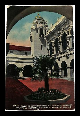 Dr Jim Stamps Us Patio Southern California Panama California Exposition Postcard