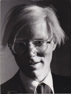 ANDY WARHOL * Playful Smirky & Smiling ICON * Rare VINTAGE  c. 1970s press photo
