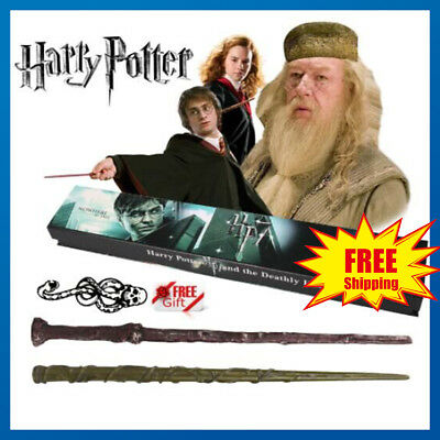 "HarryPotter Hermione Dumbledore 14.5"" Magical Wand Cosplay Halloween Free Tattoo"