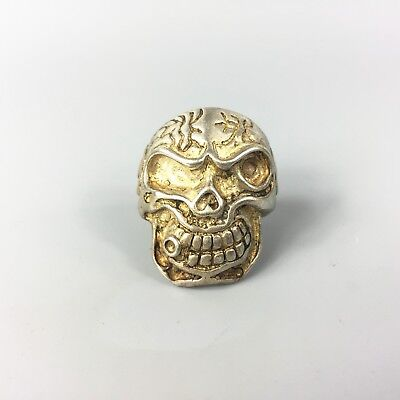 Antique Rare Collectible Chinese Old Tibet Silver Handwork skeleton No.10 Ring
