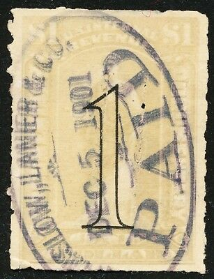 Dr Jim Stamps Us Scott R184 $1 Documentary Used Paid Cancel No Reserve