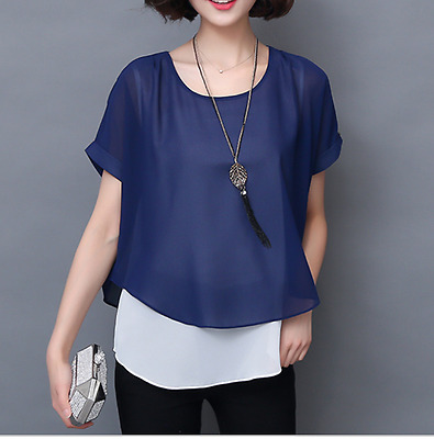 NEW Summer Shirt For Women Chiffon Blouse Casual Lady Tops Soperwillton 2018
