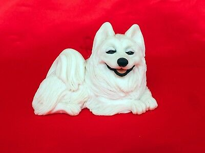Smiling Samoyed Samoyede Spitz Husky Eskimo dog ornament sculpture
