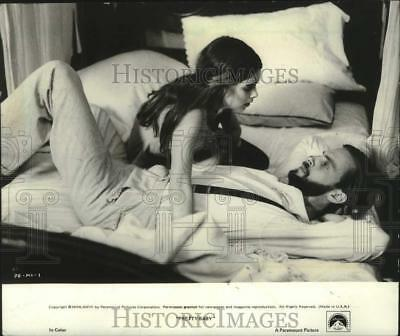 "1977 Press Photo Keith Carradine and Brooke Shields in ""Pretty Baby"" - mjx68799"
