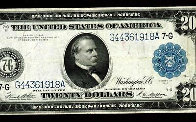 $20 1914 Federal Reserve Note ** MORE CURRENCY FOR AUCTION THIS WEEK **