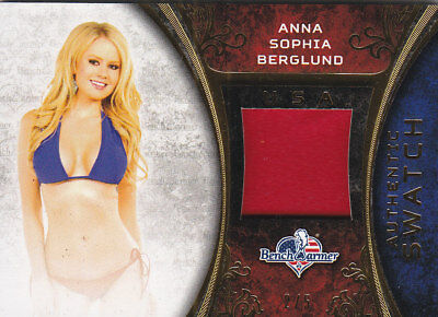 2017 Benchwarmer America The Beautiful Anna Sophia Berglund Authentic Swatch /5