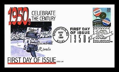 Dr Jim Stamps Us World Series Baseball Rivals Celebrate Fifties Fdc Cover