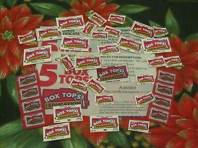 50 Box Tops For Education~Btfe~None Expired~Fast Free 1St Class Ship W/tracking~