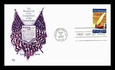 Dr Jim Stamps Us Constitution Bicentennial Marg First Day Cover Philadelphia
