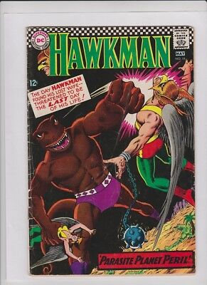 "HAWKMAN #19 VG, ""Parasite Planet Peril"",  Murphy Anderson alien battle cover"