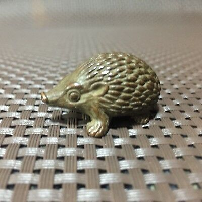 Chinese Rare Collectible Old Copper Handwork Hedgehog Figurines Antique Statue
