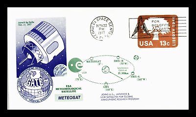 Dr Jim Stamps Us Meteosat Satellite Launch Event Cover 1977 Space Shuttle Cancel