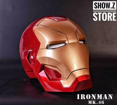 [Remote Version] CATTOYS 1:1 Iron Man MK46 LED Helmet Replica WITH LED