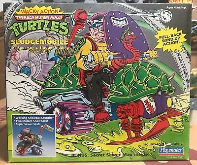 Playmates 1990 Tmnt Teenage Mutant Ninja Turtles Sludgemibile Afa Quality Sealed