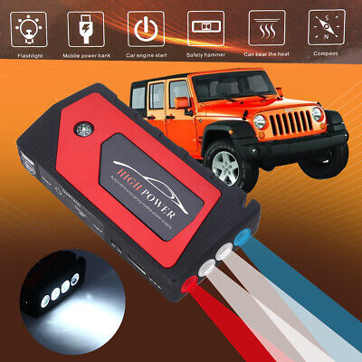 69800mAh Car Jump Starter Pack Booster LCD 4 USB Charger Battery Power Bank 12V