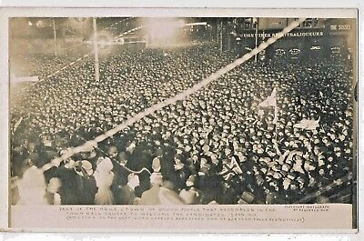Hampshire - R/p - 80.000 People, Town Hall Sq. Portsmouth, Election 17 Jan 1910