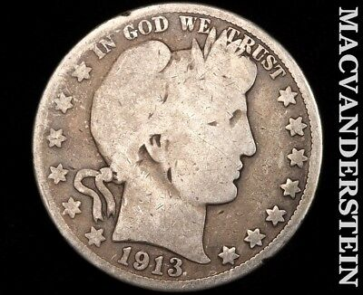 1913-S Barber Half Dollar-Scarce Better Date!!  #d9136