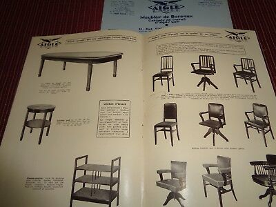 CATALOGUE MEUBLE DE BUREAU , SIEGES , CUIR 1953 , AIGLE  (ref 64 )
