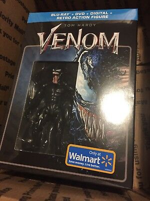 Marvel Sony VENOM Blu Ray + DVD + Digital + Retro Action Figure Exclusive NIB