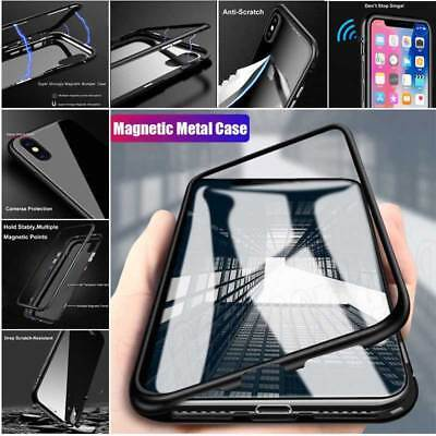 Luxury Magnetic Adsorption Slim Shockproof Clear Back Case Cover For iPhone