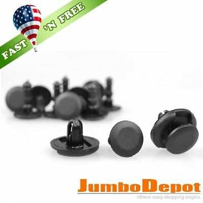 US 50Pcs 7mm Hole Push Type Bumper Hood Fender Fastener Clips For Toyota Camry