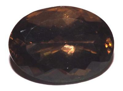 22.80 cts Smoky Quartz 22 x 16 mm Oval Shape Faceted Gemstone #dsq1225