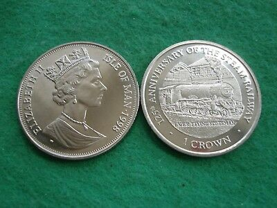 Isle of Man Crown 1998 Anniversary Steam Railway Flying Scotsman KM#882 FREEPOST