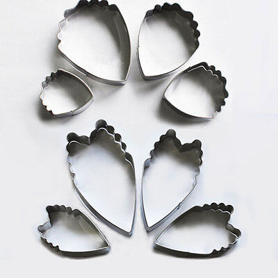 4pcs Stainless Steel Peony Flower Cookie Fondant Cake Paste Molds Cutters Tools