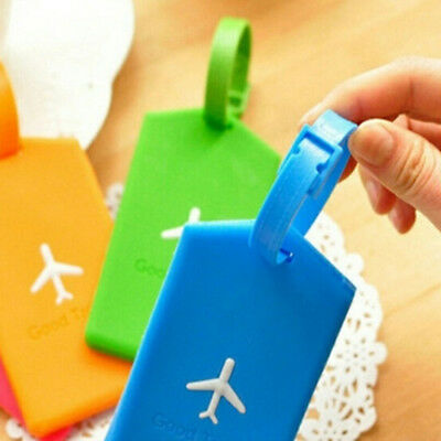Travel Luggage Bag Tag Label Name Address ID Label Rubber Suitcase Baggage Tags
