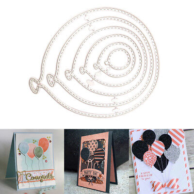 Stencil Die Cut 6PCS/lot Balloons Scrapbooking Embossing Craft Stamps