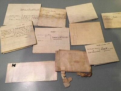 huge Lot of 10  INDENTURE BRITISH  Documents vellum 1700's 1800's early 1900's