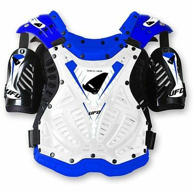 "Jopa ""Shield One"" Brustpanzer + Rücken für MX, Enduro & BMX, Cross, Weiß-Blau"