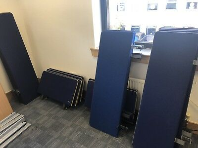office Desk divider screen in Blue and various sizes