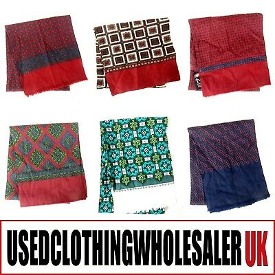 12 x 70's VINTAGE RETRO CRAVAT NECK TIES SCARVES MOD SCOOTER WHOLESALE JOBLOT