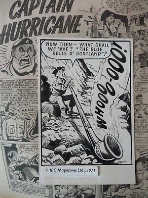 Captain Hurricane maggots - Original Comic Artwork VALIANT COMIC 1970s