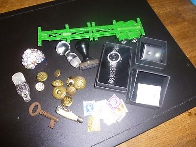 Collectables Vintage Job Lot Jewellery,Silver & Mother of Pearl Babys Teether