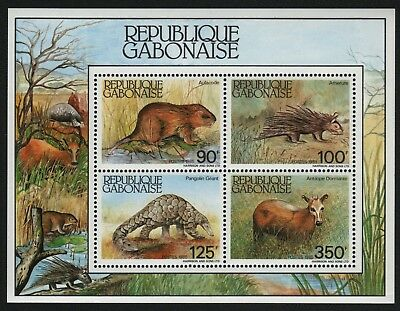 Gabun 1985 - Mi-Nr. Block 52 ** - MNH - Wildtiere / Wild animals