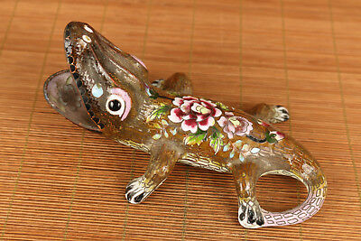 Antique chinese old cloisonne hand carved crocodile statue figure table decorati