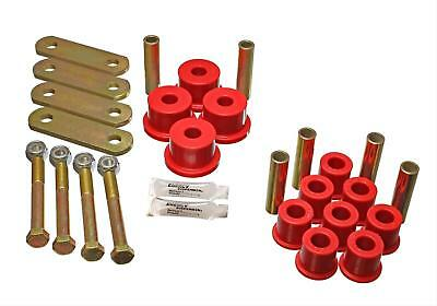 Energy Suspension Bushing Heavy Duty Shackle Set Ford Complete Red Kit