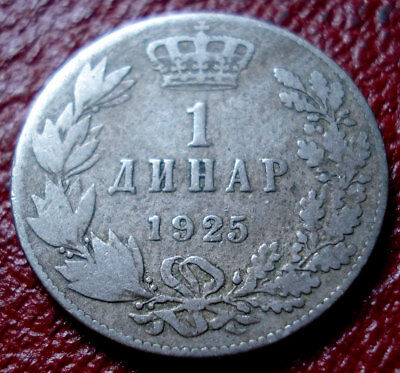 1925 Yugoslavia 1 Dinar In Vg Condition