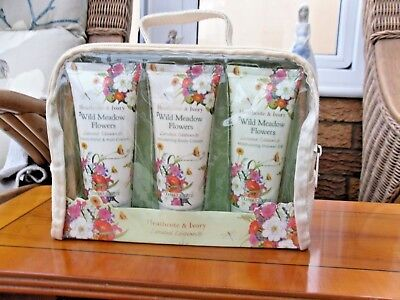 Heathcote & Ivory Wild Meadow Flowers Limited Edition Gift Set Brand New