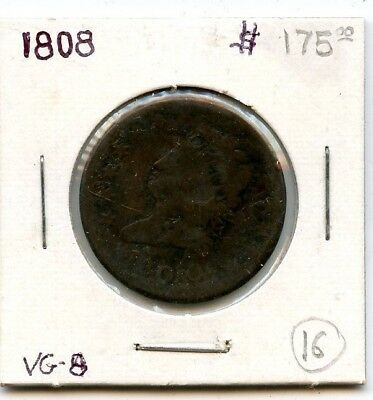 1808 Classic Head Large Cent From Estate!!!!...starts @ 2.99